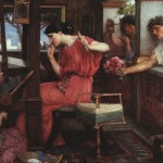 John William Waterhouse. Penélope y los pretendientes.