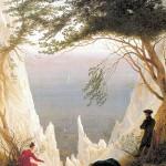 Friedrich. Rocas cretáceas en Rügen